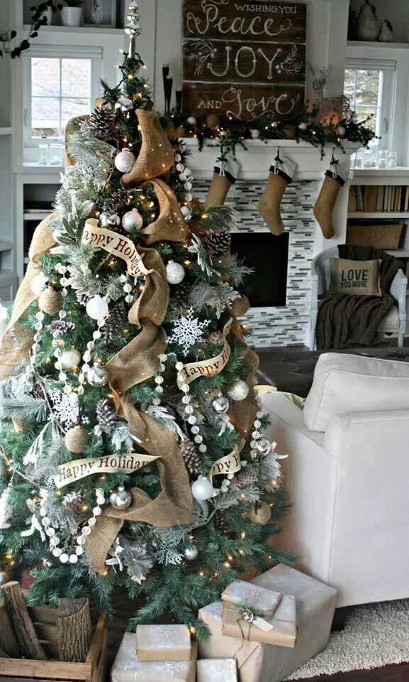 rustic chic christmas tree