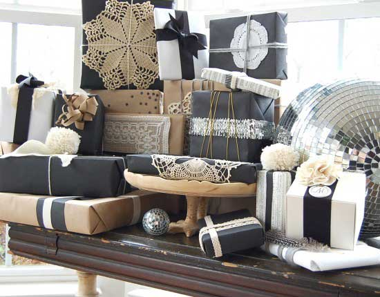 chic gift wrap
