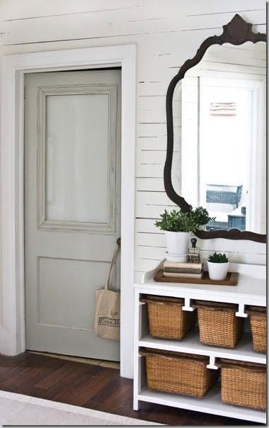 vintage door in hallway
