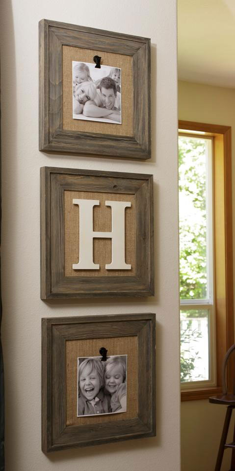 burlap backed frames