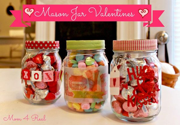 candy mason jars