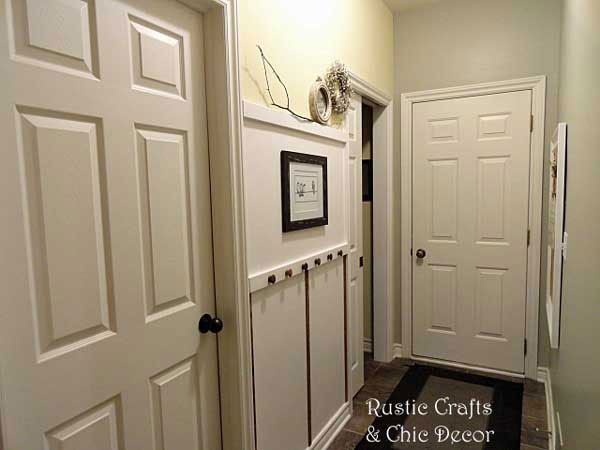 hallway makeover by rustic-crafts.com