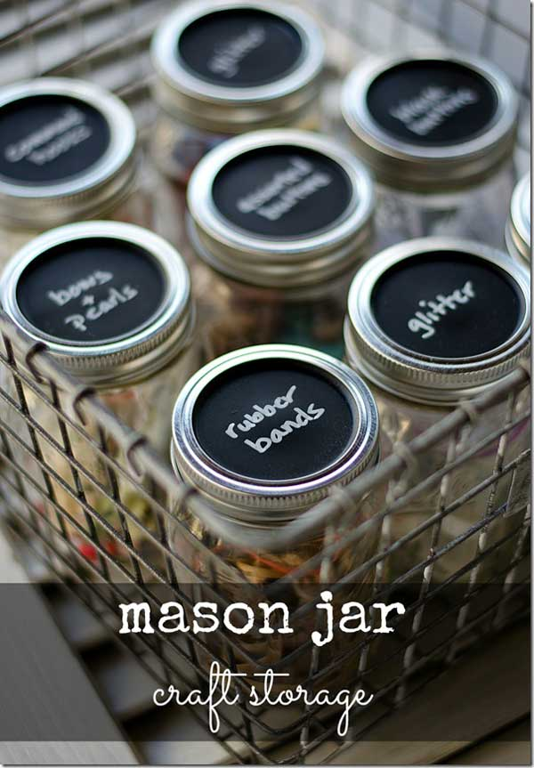 mason jar craft storage