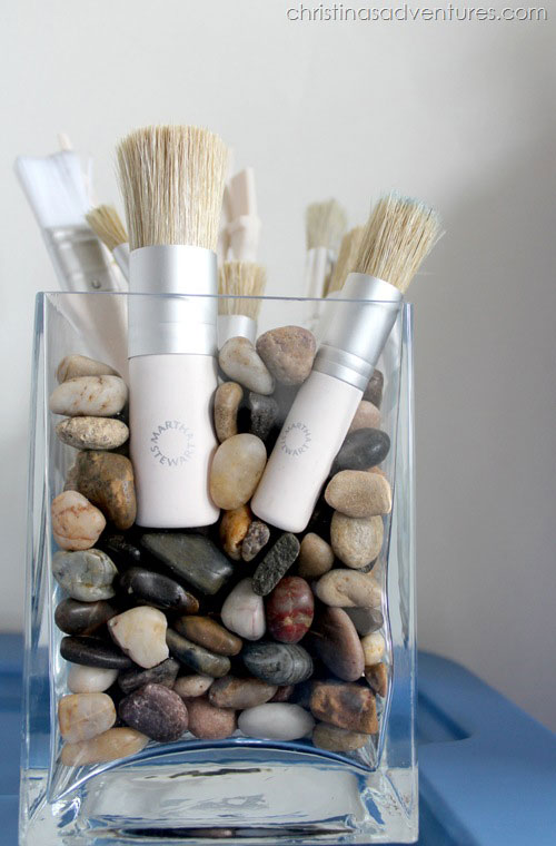 paint brushes in vase
