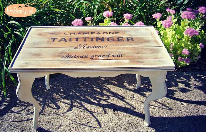rustic table makeover