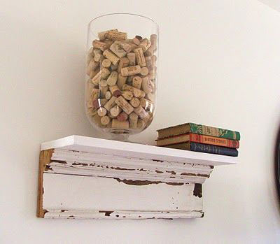 salvaged wood shelf