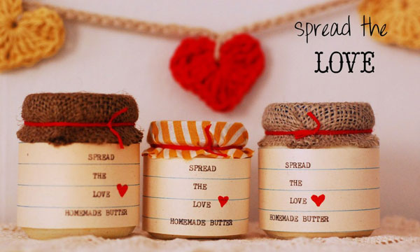 spread the love mason jars