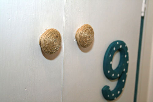 twine wrapped knobs