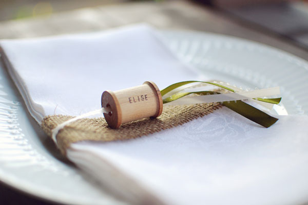 spool placecard napkin ring