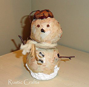 birch snowman by rustic-crafts.com