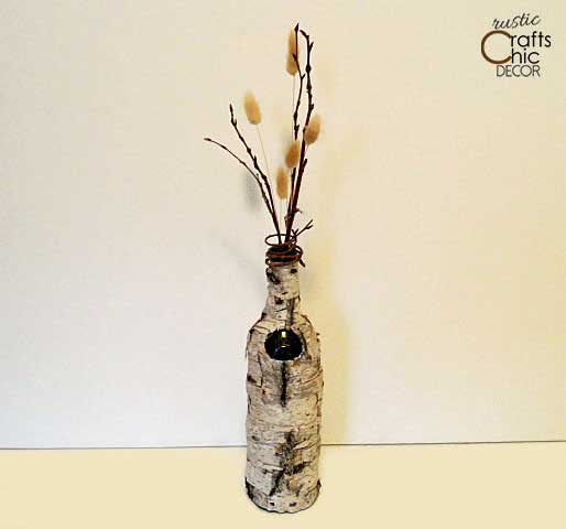 birch crafts for home decor - birch vase craft