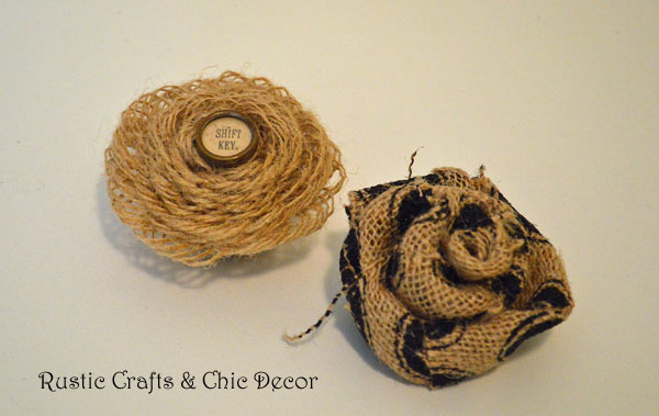 how to make burlap flowers by rustic-crafts.com