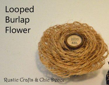 looped burlap flower