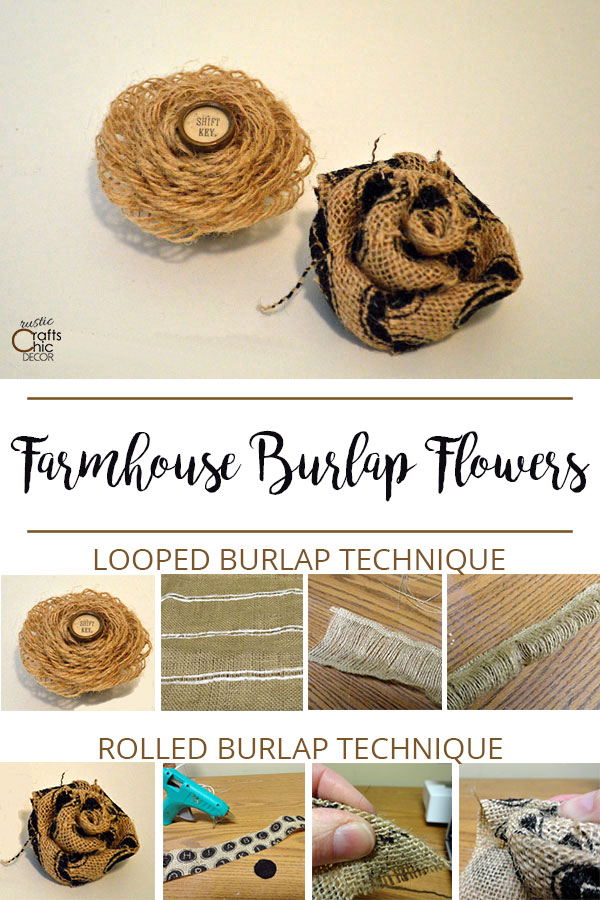 rustic burlap flower craft