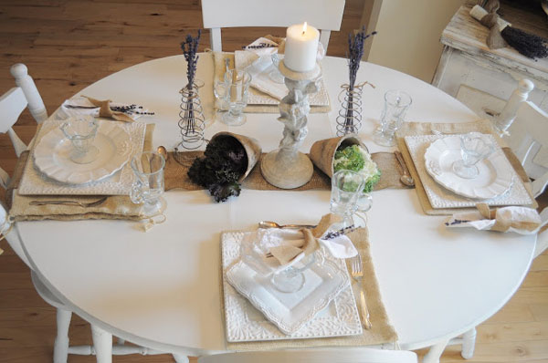 rustic chic table arrangement
