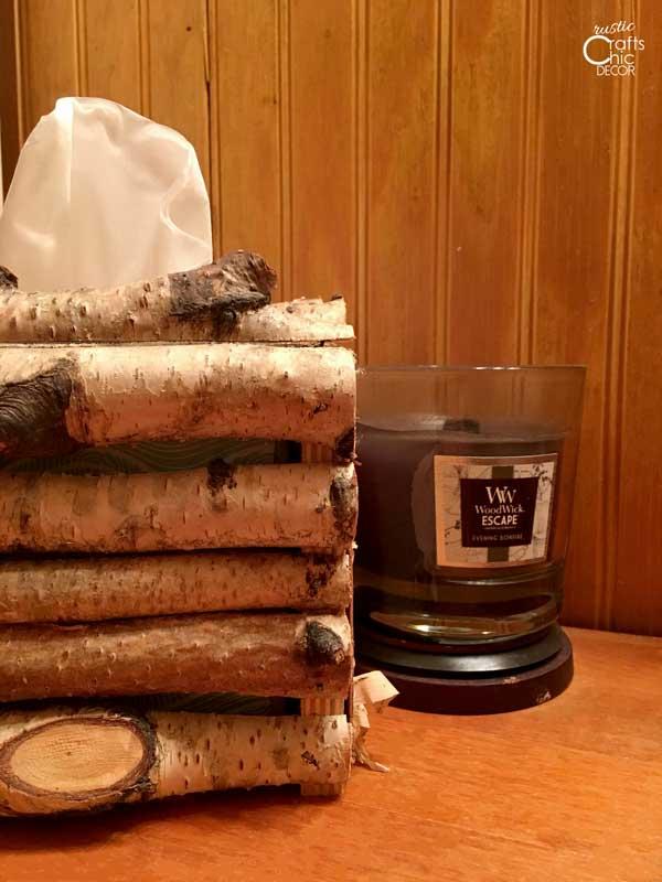 birch tissue box cover