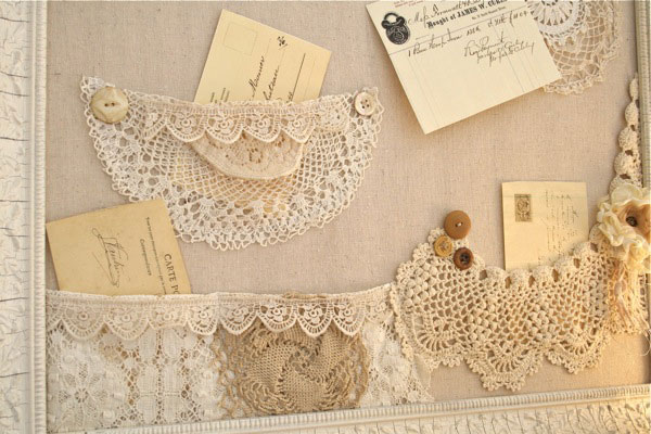 shabby bulletin board