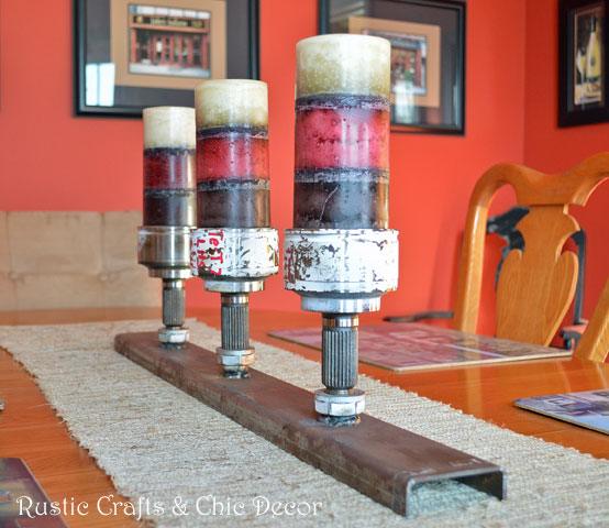 rustic industrial centerpiece by rustic-crafts.com