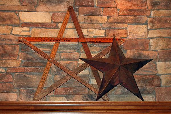 vintage yardstick star