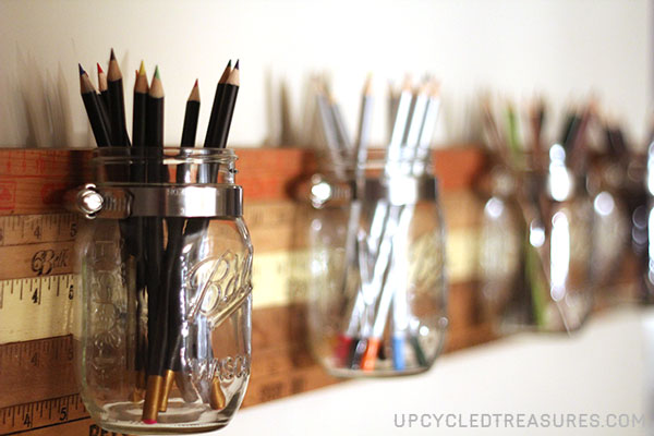 yardstick mason jar storage