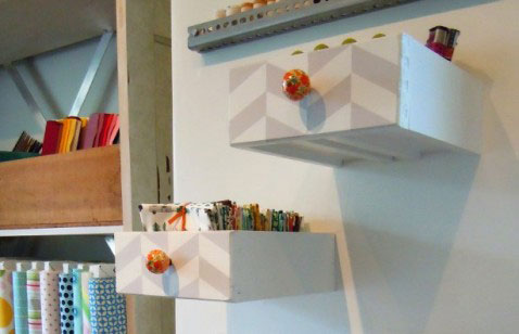 shelves made from drawers