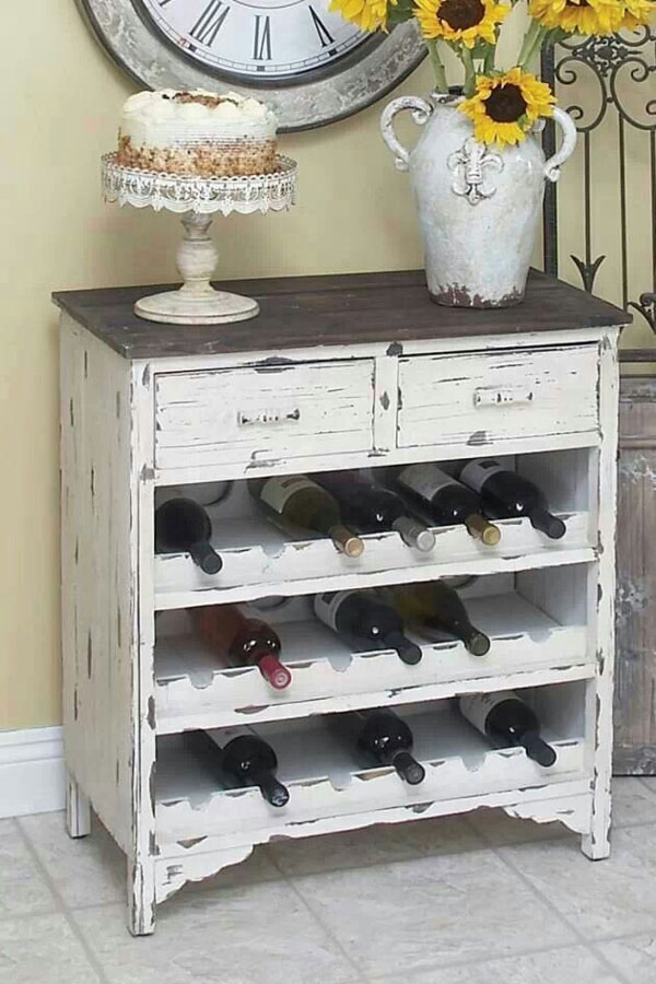 dresser wine rack