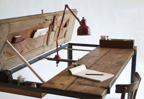 old door table desk