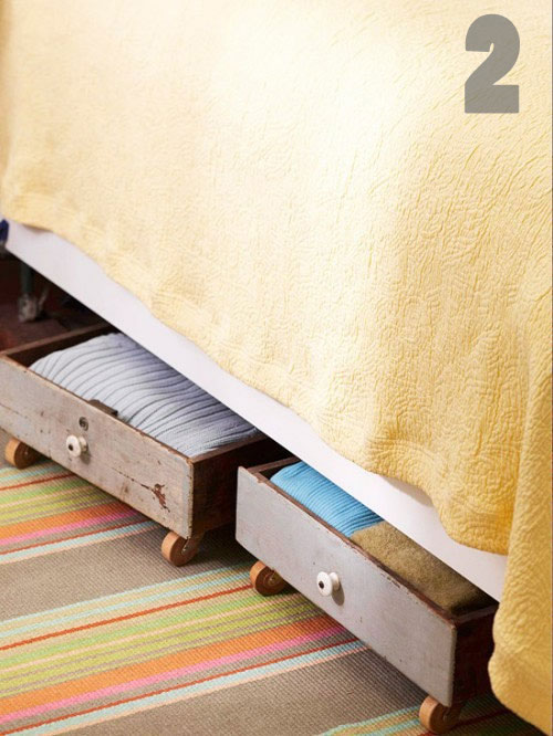 old drawer underbed storage