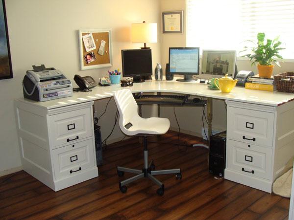 pottery barn inspired desk diy