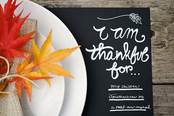 thanksgiving chalkboard placemat