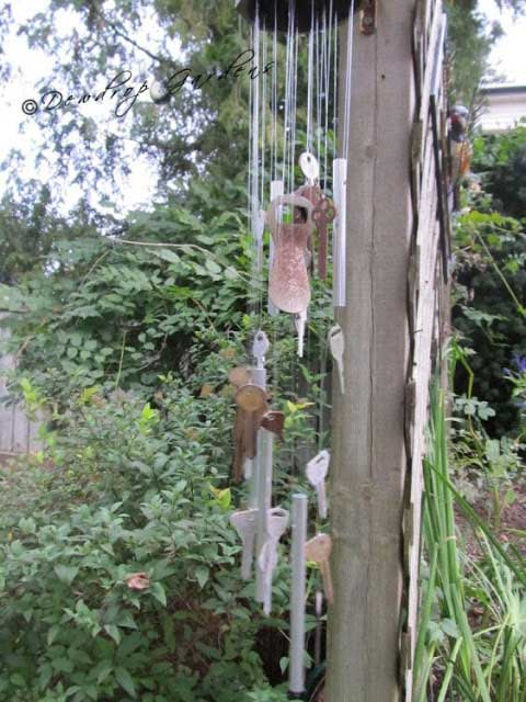 vintage key windchime