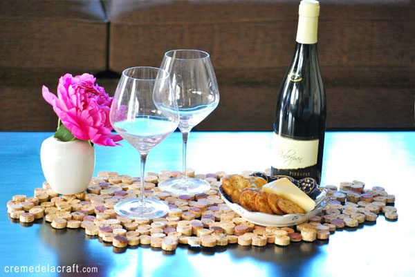 wine cork placemat