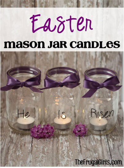 Easter mason jar candles