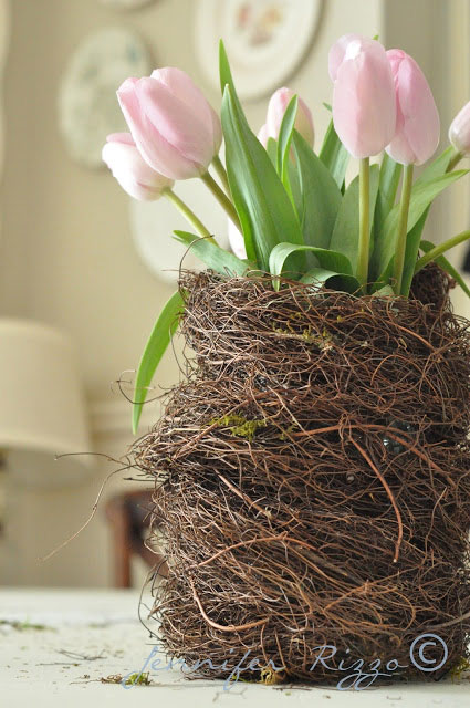 bird's nest vase