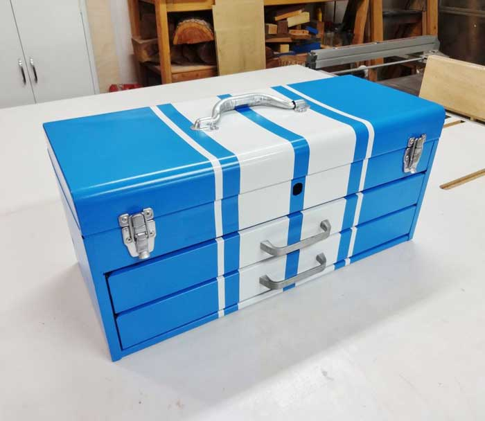 restored toolbox for storage