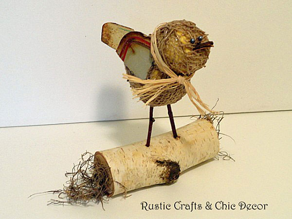 bird craft by rustic-crafts.com
