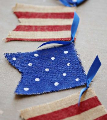 painted burlap memorial day banner