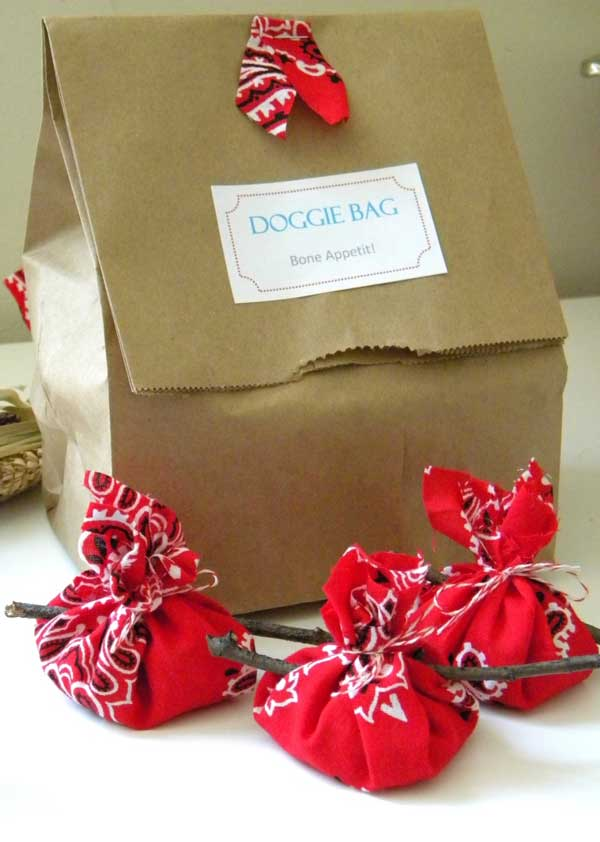 red bandana party favors