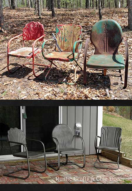 repainted outdoor metal chairs