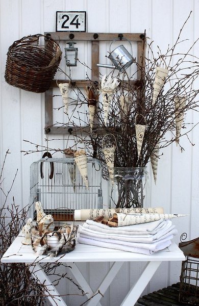 rustic chic outdoor setting