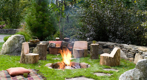 rustic outdoor fire pit