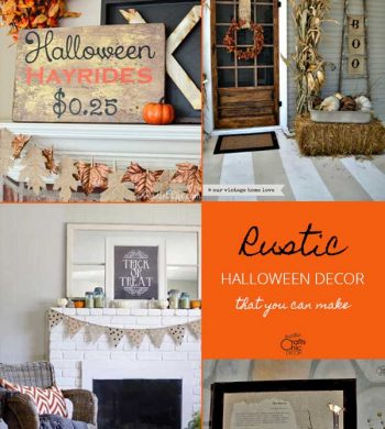 rustic halloween decor