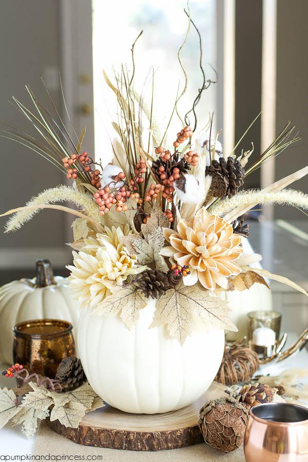 faux pumpkin vase