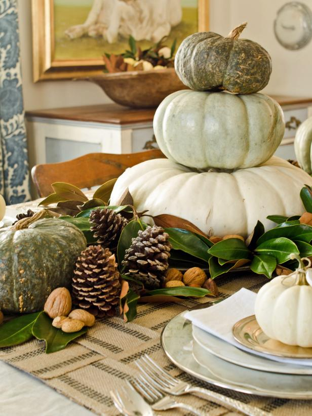 pumpkin topiary centerpiece
