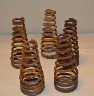 rusted metal coils
