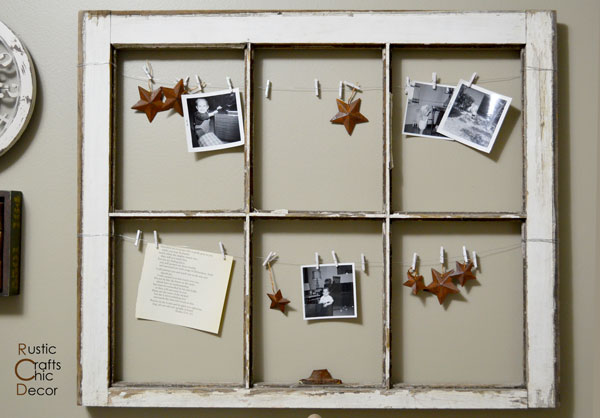 creative photo display by Rustic Crafts and Chic Decor