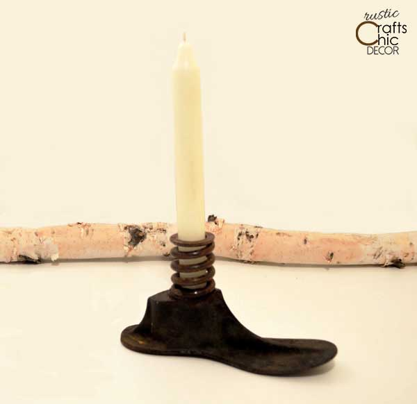 shoe mold candle holder