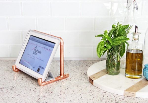 copper pipe ipad stand craft