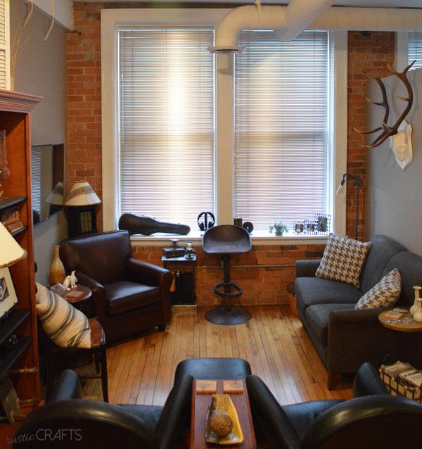 vintage industrial living room