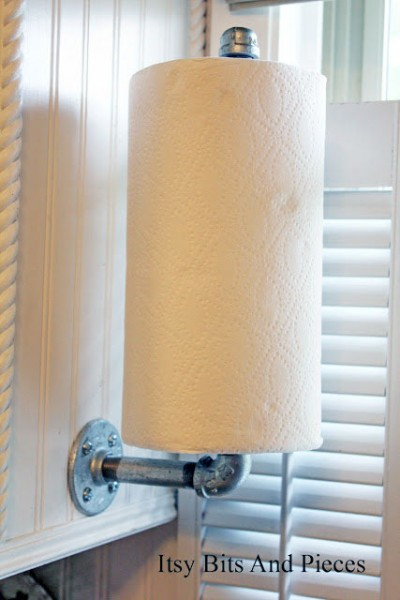 plumbers pipe paper towel holder